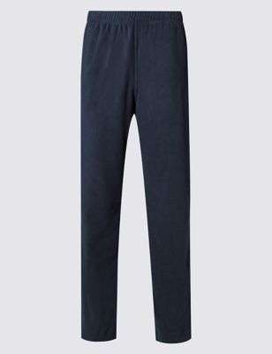 Fleece Joggers With Stay New™ by Marks & Spencer