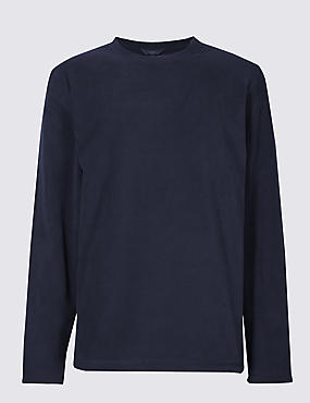 Crew Neck Fleece Top