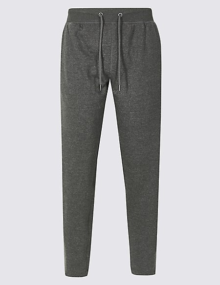 Pure Cotton Textured Joggers