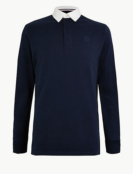 Contrast Collar Rugby Shirt