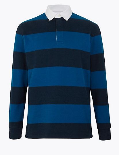 Cotton Striped Rugby Shirt