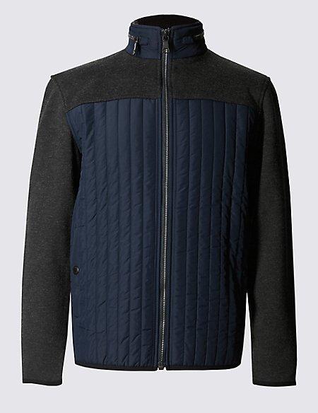 Thinsulate™ Textured Long Sleeve Fleece Top