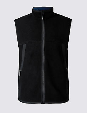 Textured Zip Through Gilet