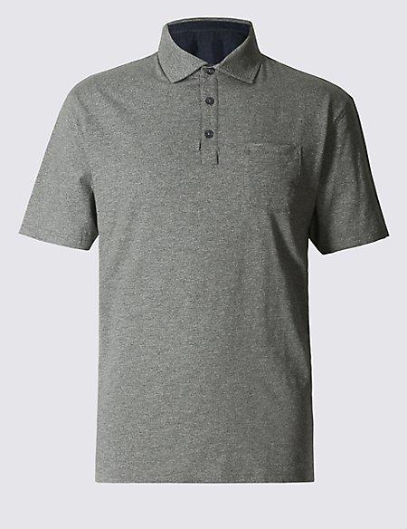 Regular Fit Textured Polo Shirt