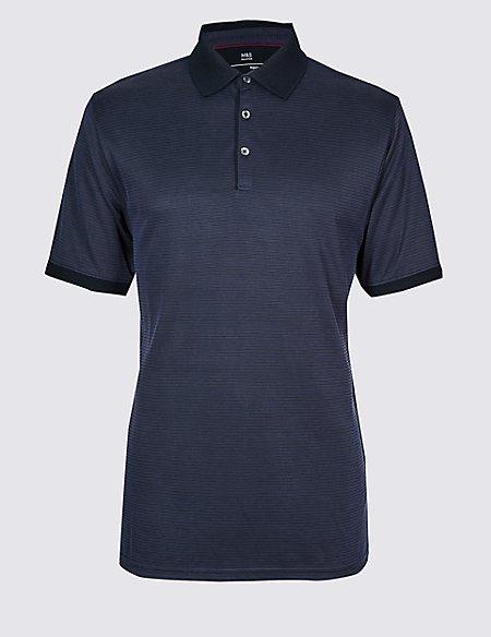 Big & Tall Modal Rich Textured Polo Shirt