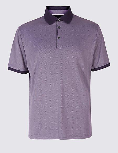 Modal Rich Textured Polo Shirt