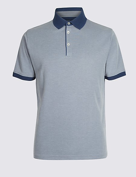 Modal Rich Slim Fit Textured Polo Shirt