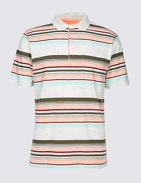 Slim Fit Striped Polo Shirt