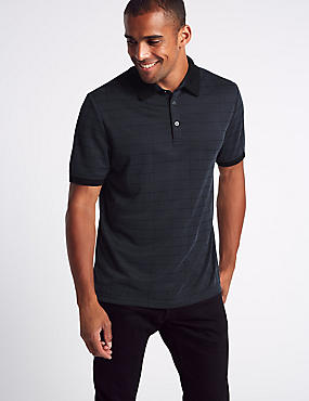Modal Blend Checked Polo Shirt