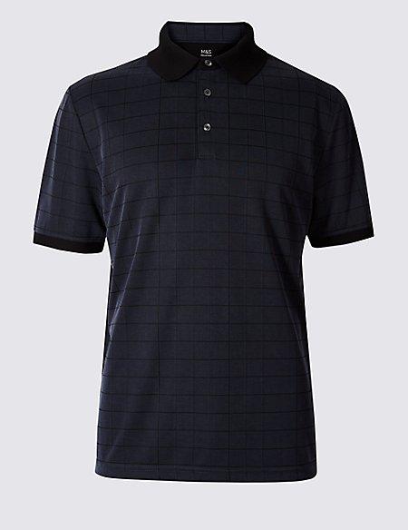Modal Blend Checked Polo Shirt