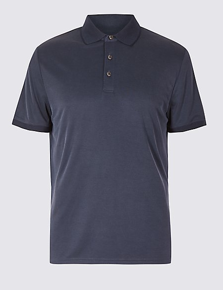 Slim Fit Modal Rich Textured Polo Shirt