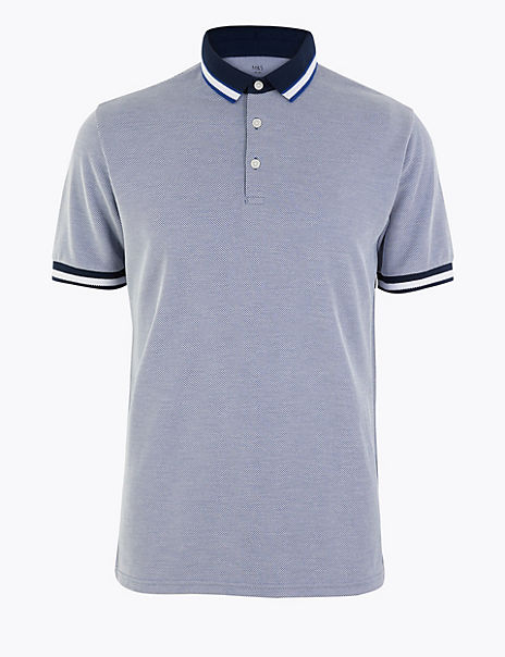 Modal Rich Tipped Polo Shirt