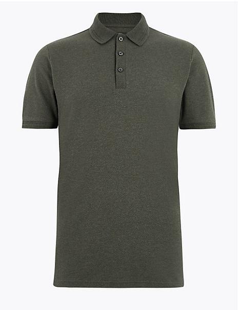 Cotton Rich Textured Polo Shirt