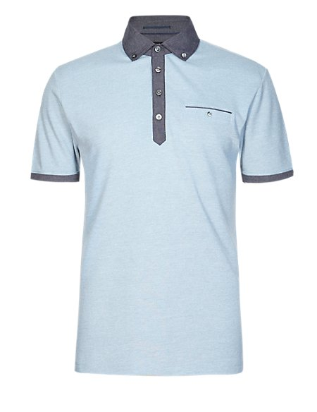 Piqué Polo Shirt with Modal