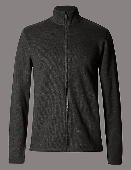 Textured Slim Fit Sweatshirt
