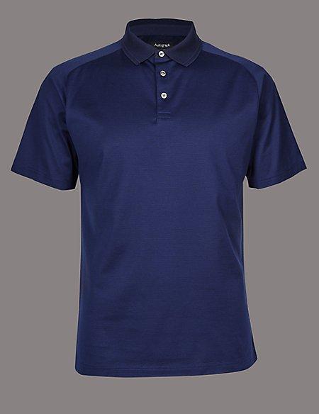 Slim Fit Supima® Cotton Textured Polo Shirt