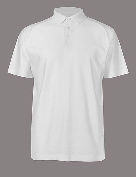 Supima® Cotton Textured Polo Shirt
