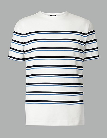 Slim Fit Supima® Cotton Striped T-Shirt