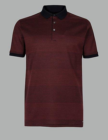 Supima® Cotton Striped Polo Shirt