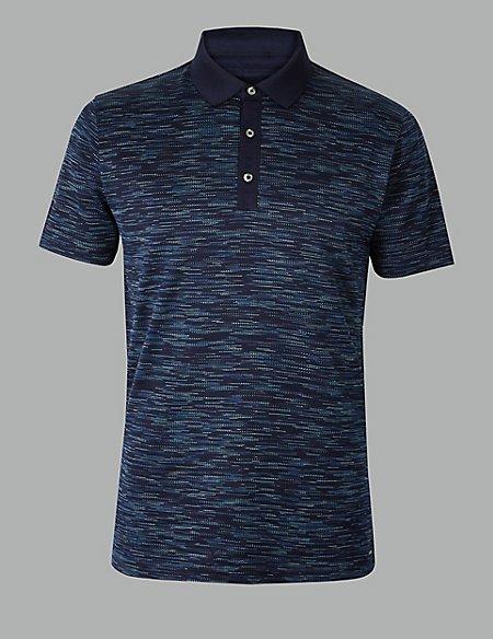 Pure Cotton Textured Polo Shirt