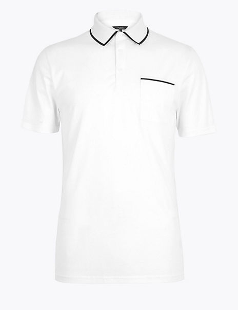 Supima Cotton Contrast Tipping Polo