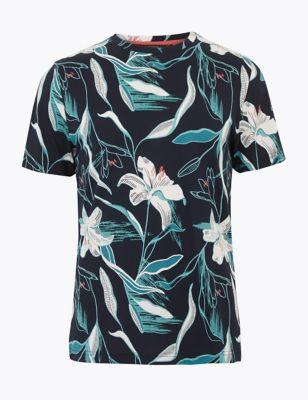 Premium Cotton Slim Fit Print T-Shirt