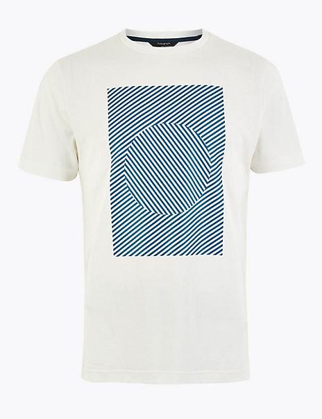 Premium Cotton Square Print T-Shirt