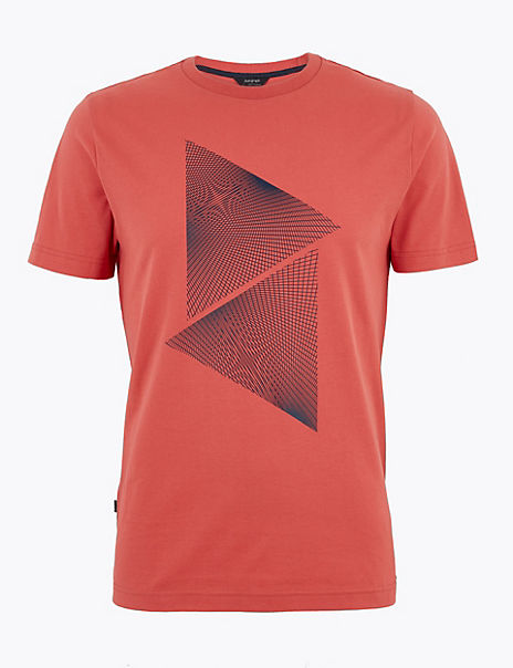 Premium Cotton Triangle Print T-Shirt