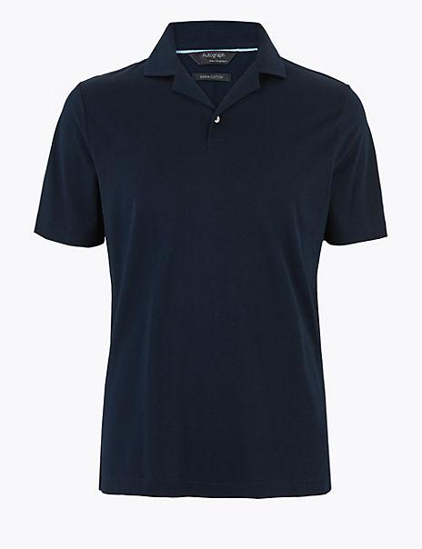 Premium Cotton Revere Collar Polo Shirt