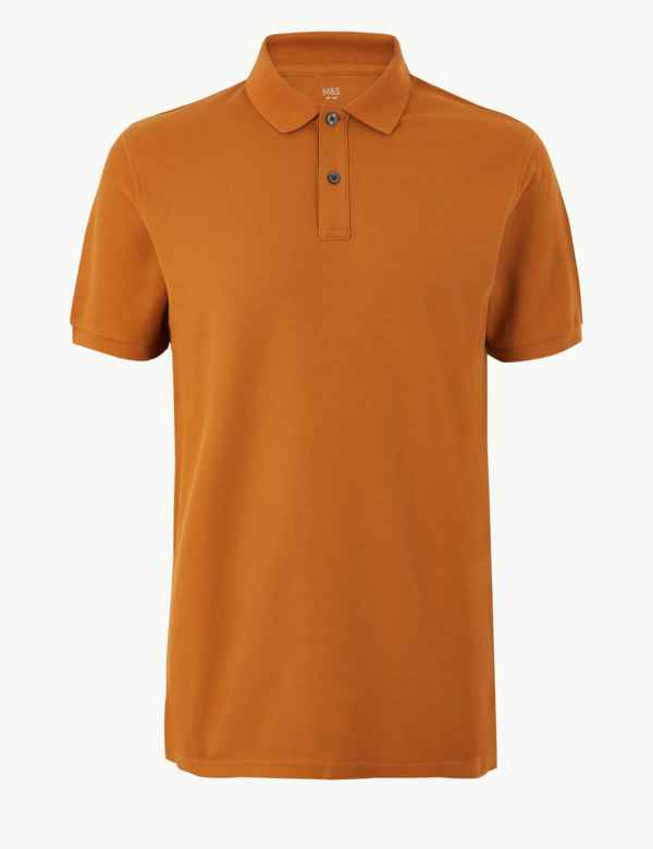 ada5599d2 Mens Pure Cotton Tailored Fit Polo Shirts