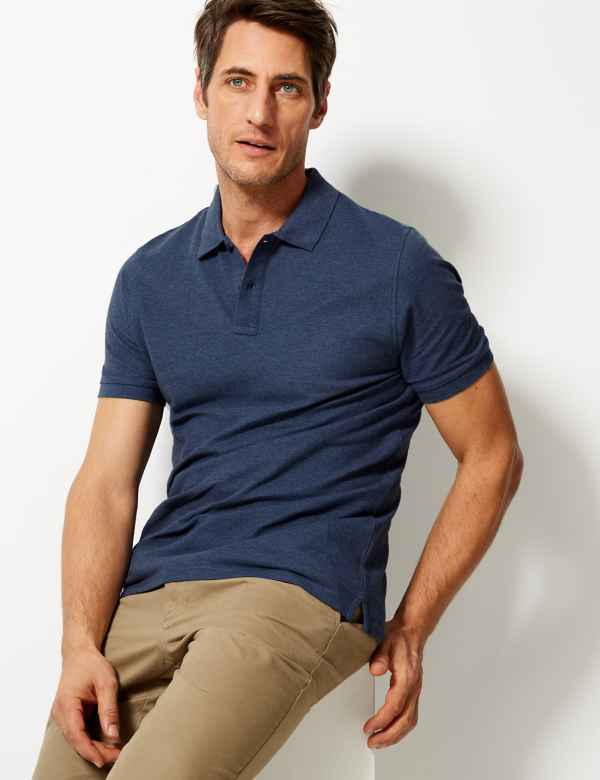 990cef09c25 Pure Cotton Polo Shirt. Multibuy Offer. M&S Collection