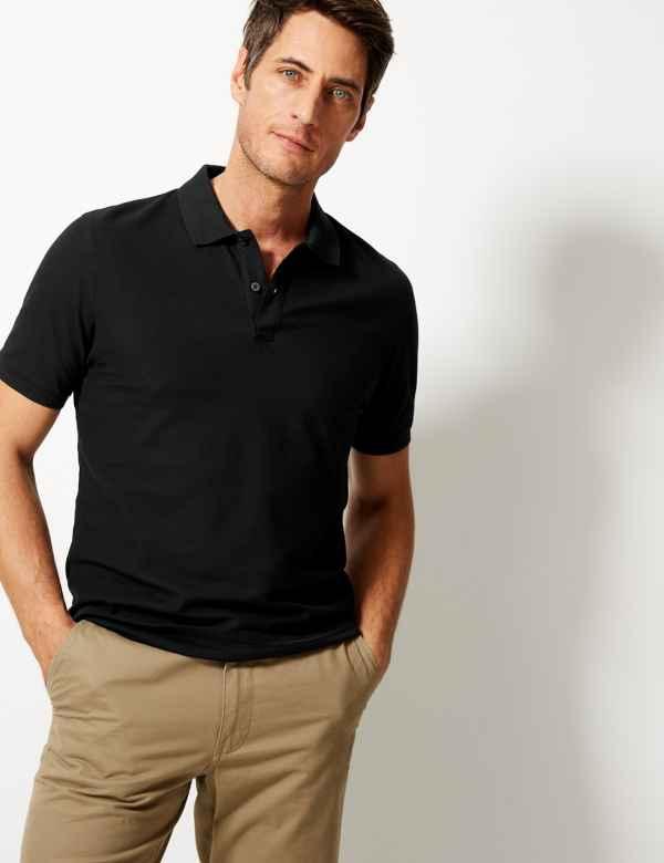 4f7eb309 Black | Mens Tops, T Shirts & Polos | M&S