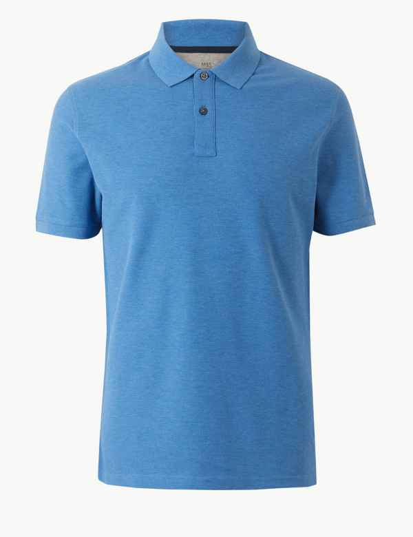 0a9b05a3faa75 Slim Fit Pure Cotton Polo Shirt