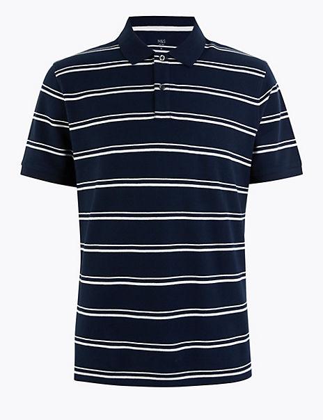 Cotton Striped Polo Shirt