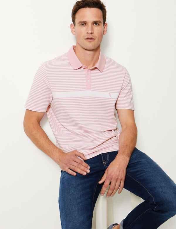 da8d1647b Pure Cotton Striped Polo Shirt