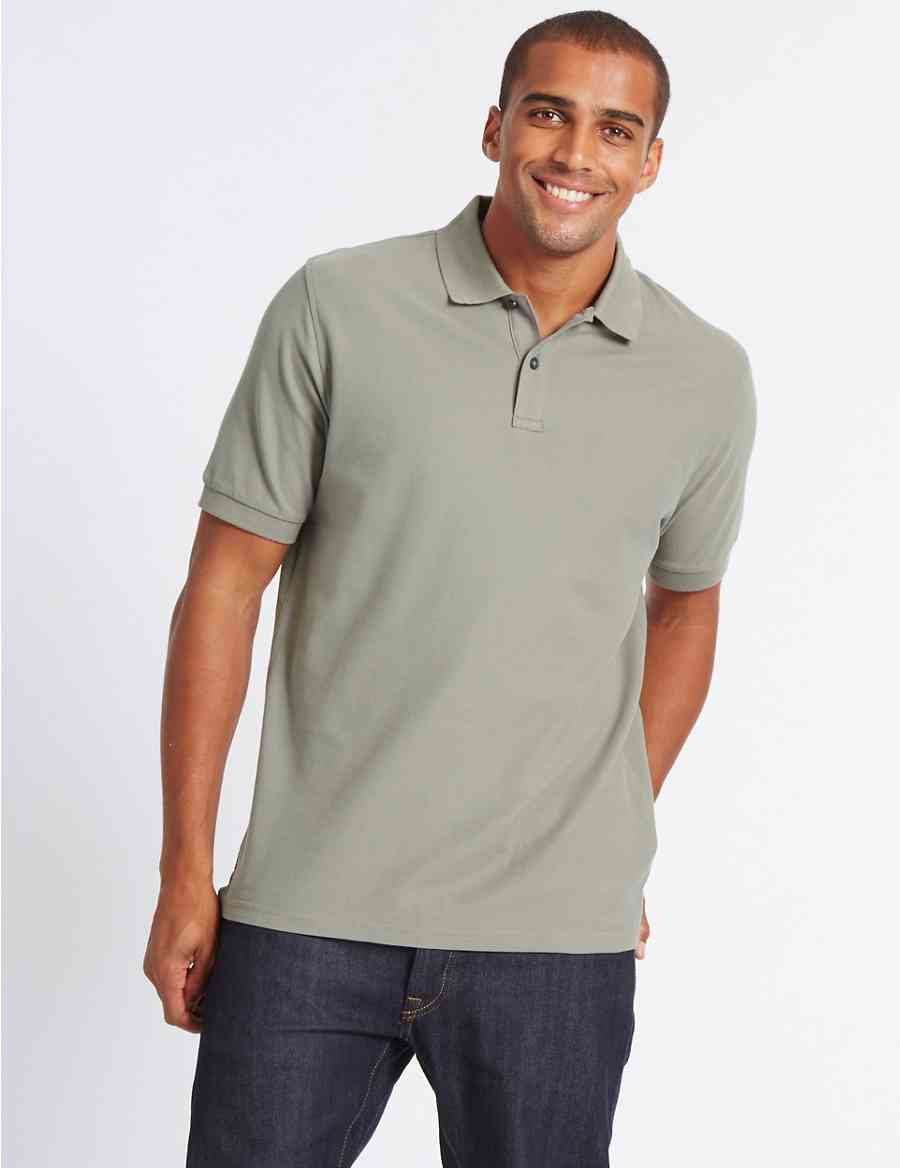 Pure Cotton Polo Shirt Ms Collection Ms