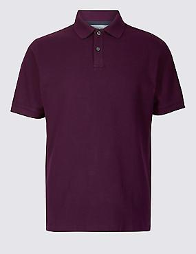 Pure Cotton Pique Polo Shirt