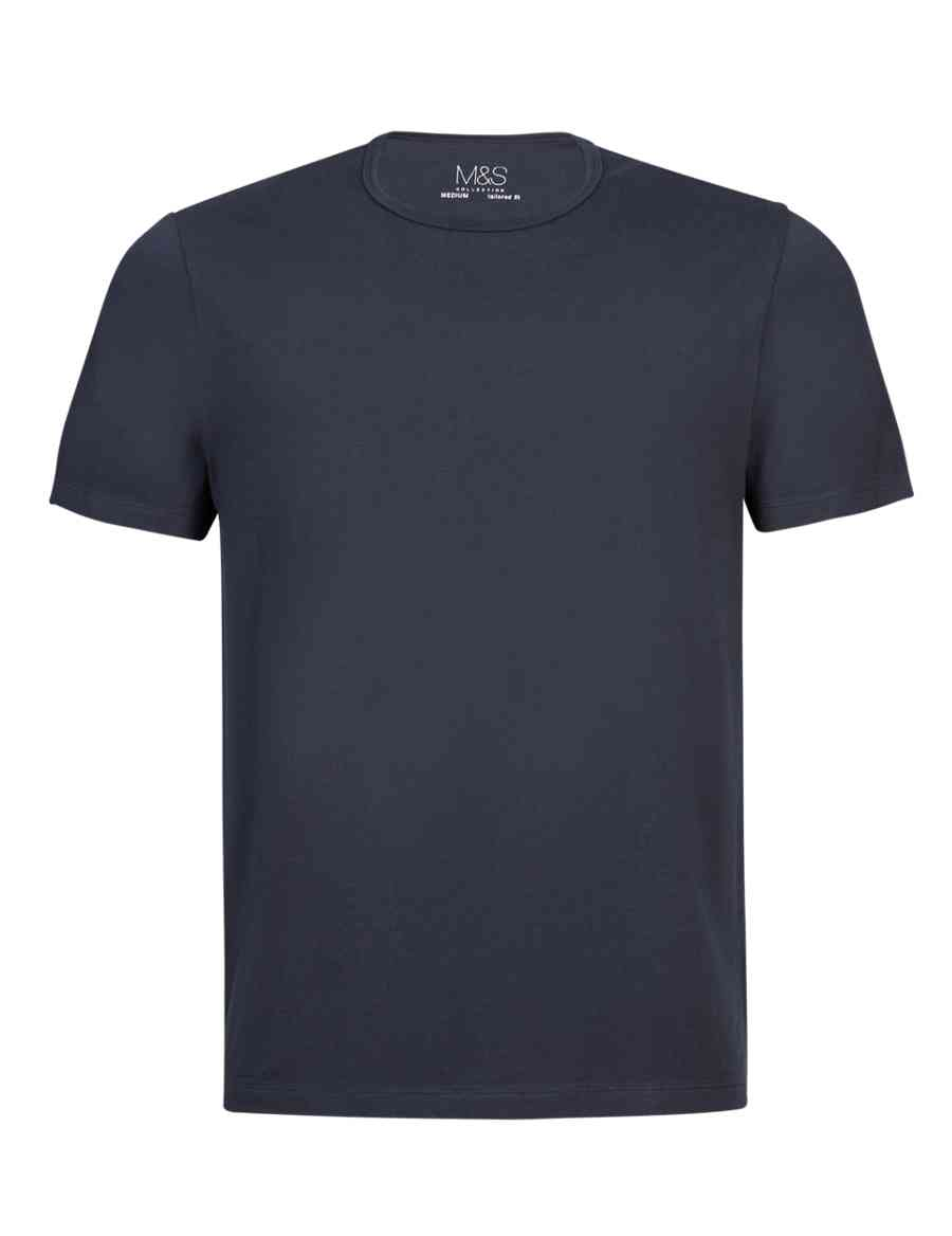 7b0a0f5f709 Tailored Fit Pure Cotton Stay Soft T-Shirt