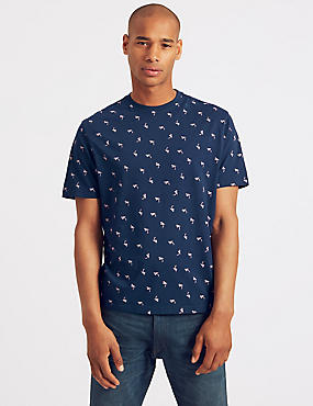 Slim Fit Pure Cotton Printed T-Shirt