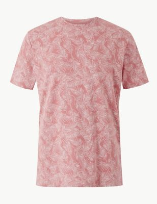 f607a7acc81c Pure Cotton Leaf Print T-Shirt £15.00
