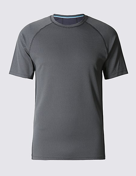 Tailored Fit Textured Crew Neck T-Shirt