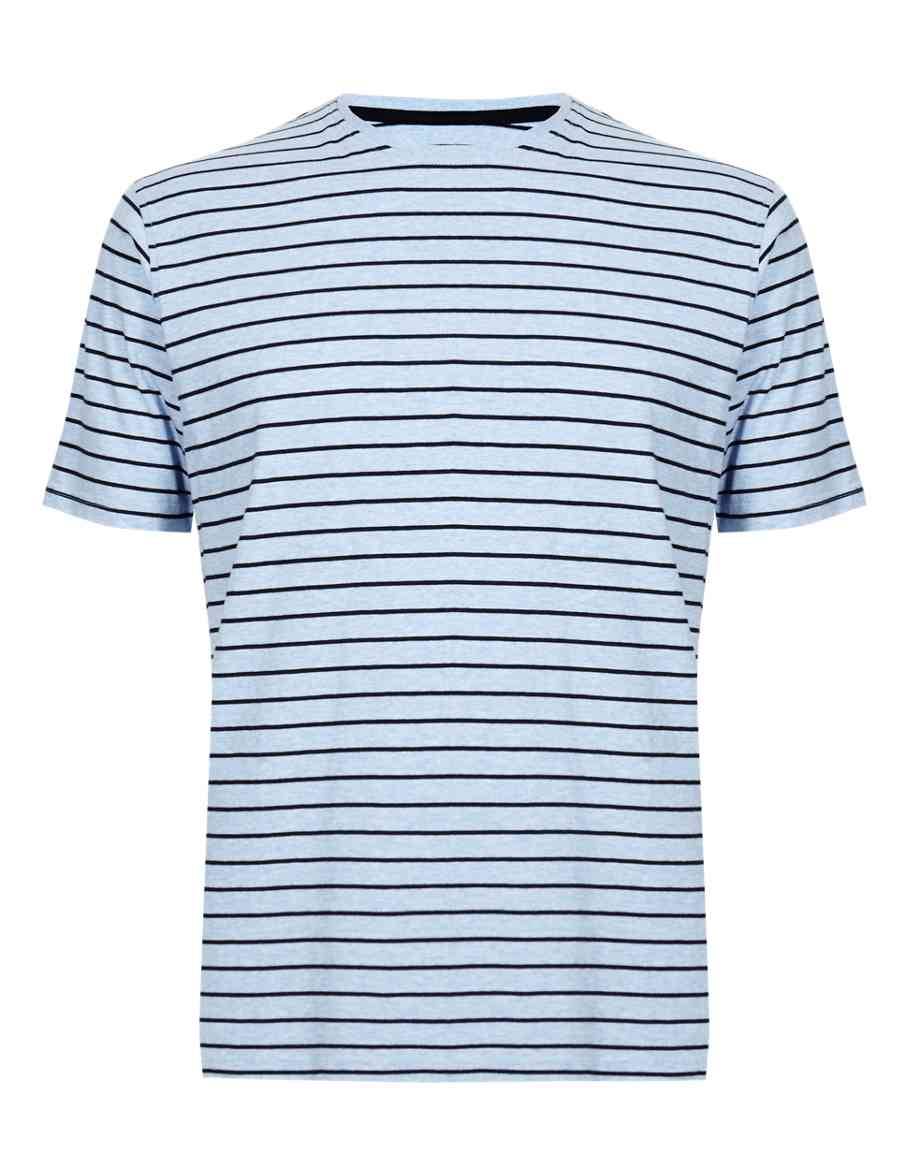 5e2d9d3d1ce Pure Cotton Stay Soft Striped T-Shirt with StayNEW™