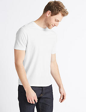 Slim Fit Pure Cotton T-Shirt with Cool Comfort™