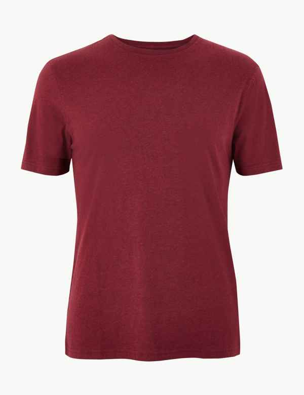 733d11428d Pure Cotton Crew Neck T-Shirt