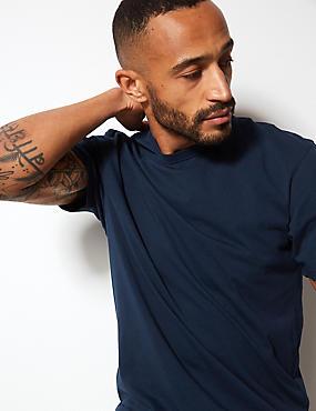 Marks /& Spencer Homme Riche en Coton Demi Zip Baseball neck nouveau m/&s Pull en mailles