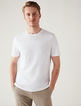 Camiseta 100% algodón con escote cerrado