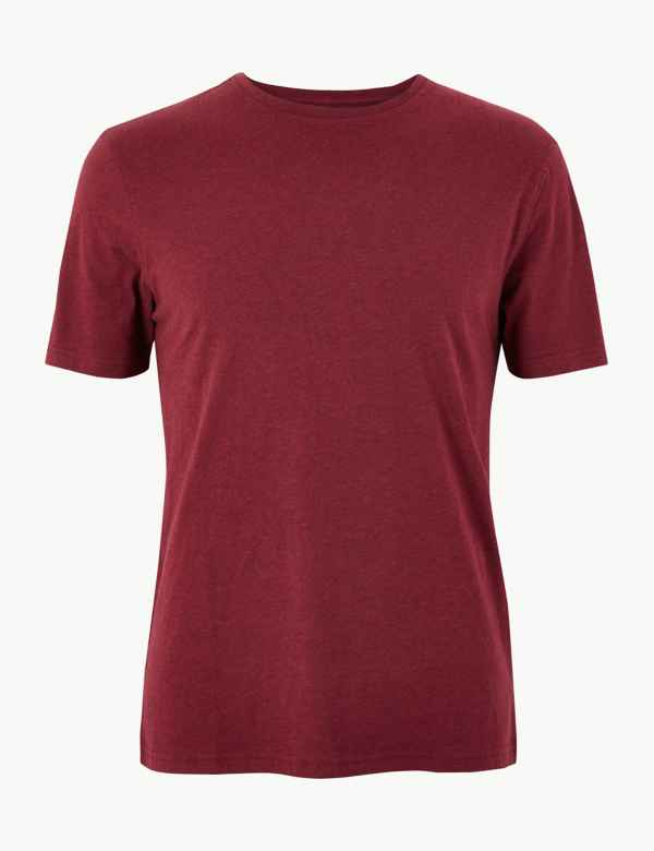 4fb05ad2e Slim Fit Pure Cotton Crew Neck T-Shirt