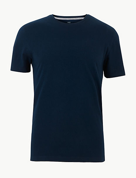 Slim Fit Cotton Crew Neck T-Shirt