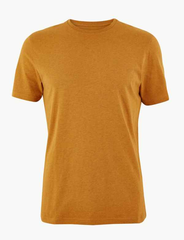 7d320a86 Slim Fit Pure Cotton Crew Neck T-Shirt