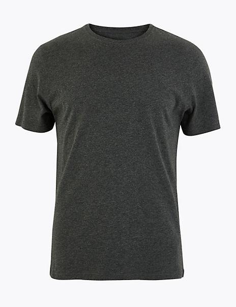 Slim Fit Cotton Crew Neck T-Shirt